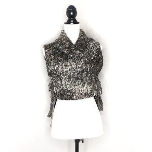 Bryn Walker Wool Blend Turtlneck Side Tie Sweater